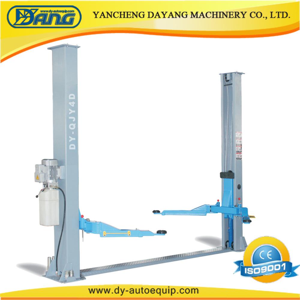 medium resolution of china dayang garage 4 ton two post car lift equipment with manual lock china car hoist auto lift