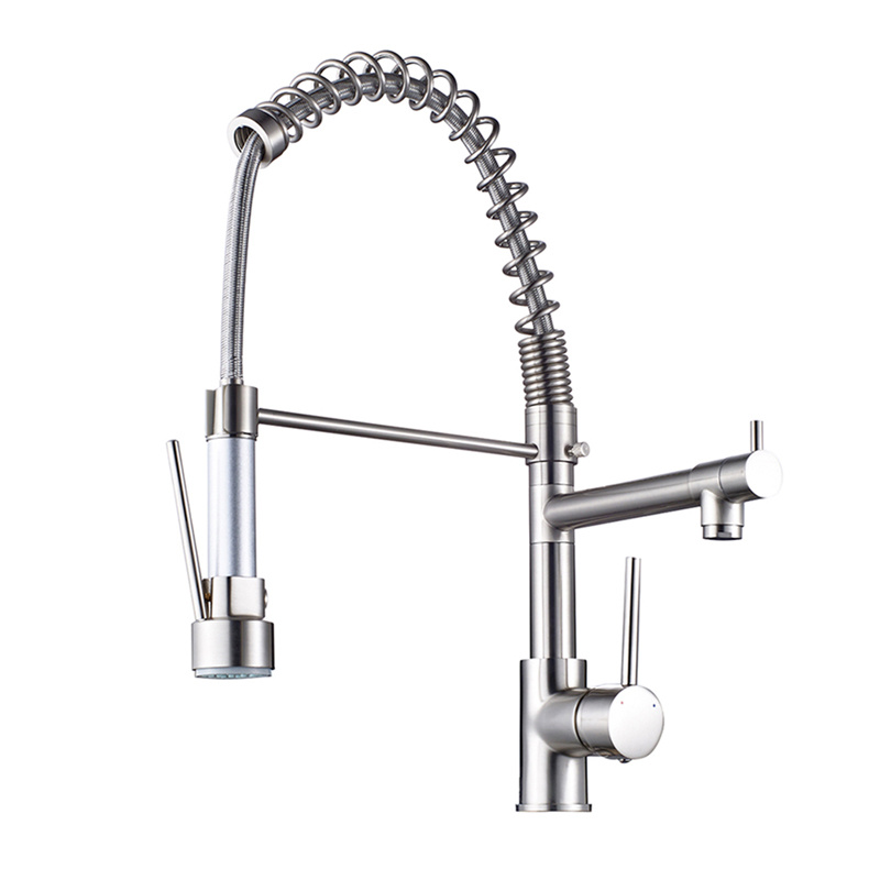 China Flg LED Kitchen Faucet with Pull Down Vessel Sink