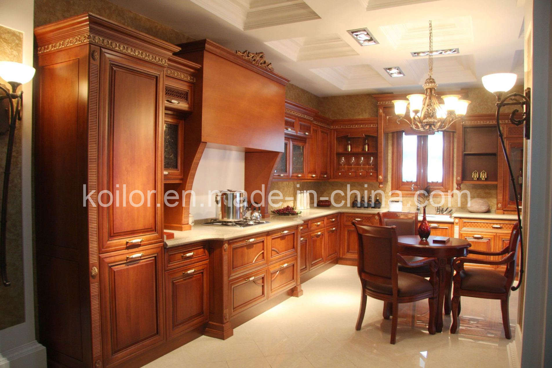 China Kitchen Cabinet  Solid Wood Kitchen Cabinets Royal
