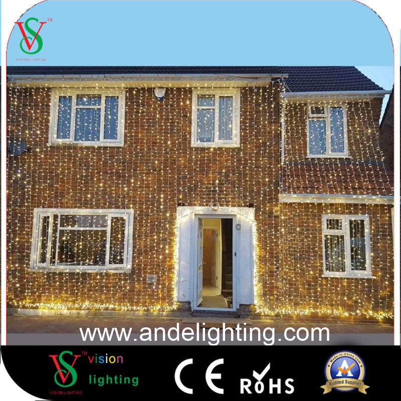 china 2mx3m 600 led christmas white