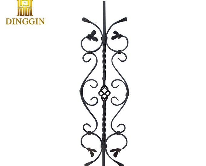 China Wrought Iron Decoration Baluster For Sale China Stair Rail   Iron Balusters For Sale   Double Basket   Rustic   Square   Indoor   Cast Iron