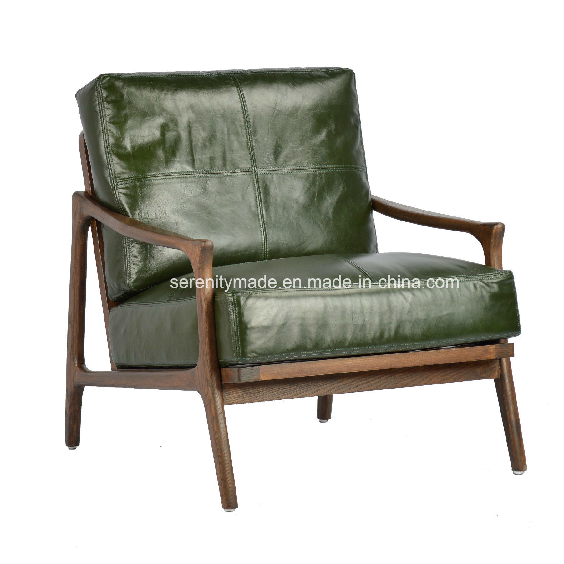 Leather And Wood Chair Hot Item Vintage Style Restaurant Furniture Solid Wood Leather Dining Chair