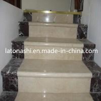 China Design Prefab Natural Marble Stone Straight Step