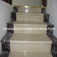 China Design Prefab Natural Marble Stone Straight Step ...