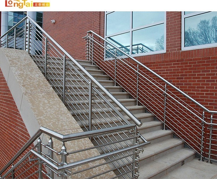 China Safe Outdoor Stair Soild Rod Balustrade System Handrail | Steel Handrails For Outdoor Steps | Tubular Steel | Steel Handrail Style Kerala Staircase | Stainless | Commercial | Residential