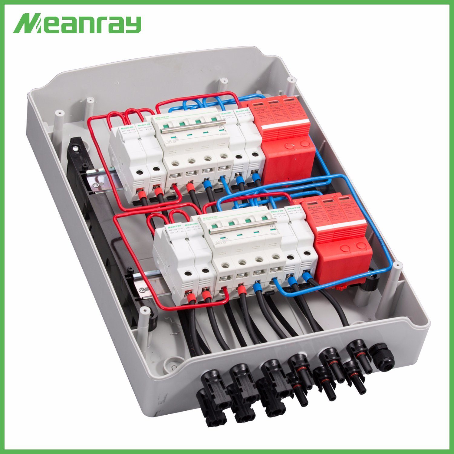 hight resolution of china pv junction box with mc4 connector and anti reverse 4 in 2 out dc ac abs combiner box china pv junction box combiner box with mc4 connector