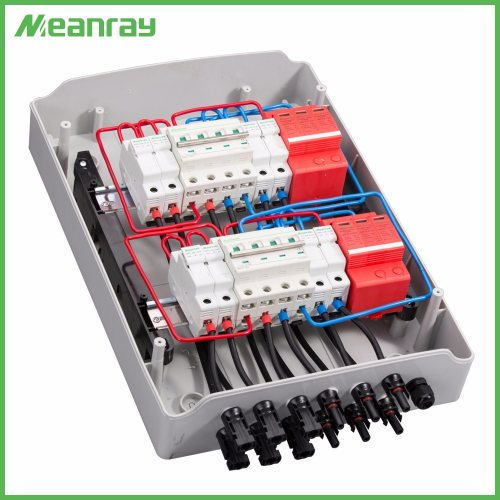 small resolution of china pv junction box with mc4 connector and anti reverse 4 in 2 out dc ac abs combiner box china pv junction box combiner box with mc4 connector