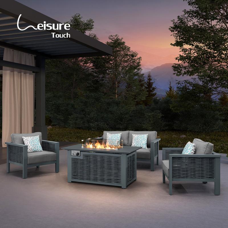 china grey wicker patio furniture lawn