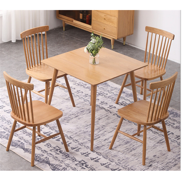 hot item simple solid wood small square dining table
