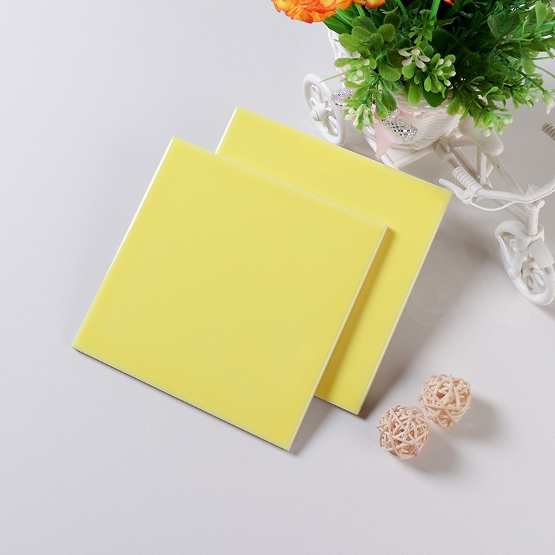 hot item 6x6 inch 150x150mm yellow ceramic subway tile for interior entryway
