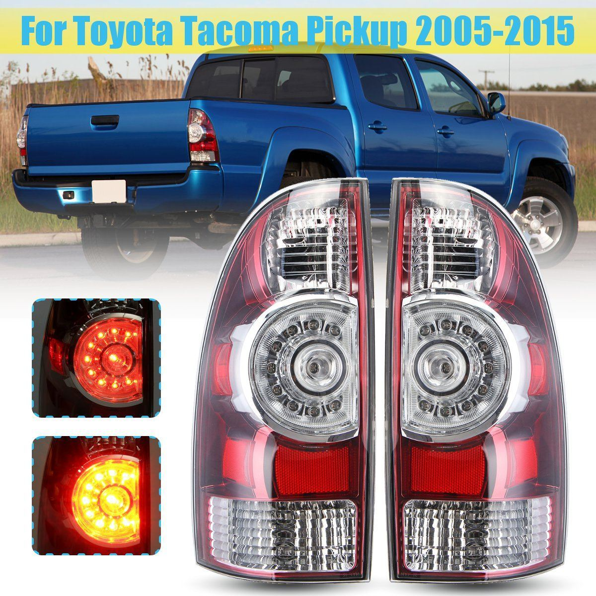 hight resolution of china for toyota tacoma pickup 2005 2015 left right tail light lamp with wire harness led rear tail light brake lamp china tail light tail light for