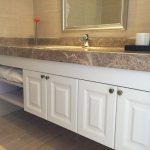 Hot Item Modern Design Laminate Bathroom Vanity Top Wall Mounted Lowes Bathroom