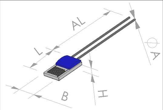 China Thin Film PT Element (PT100, PT500, PT1000, SMD