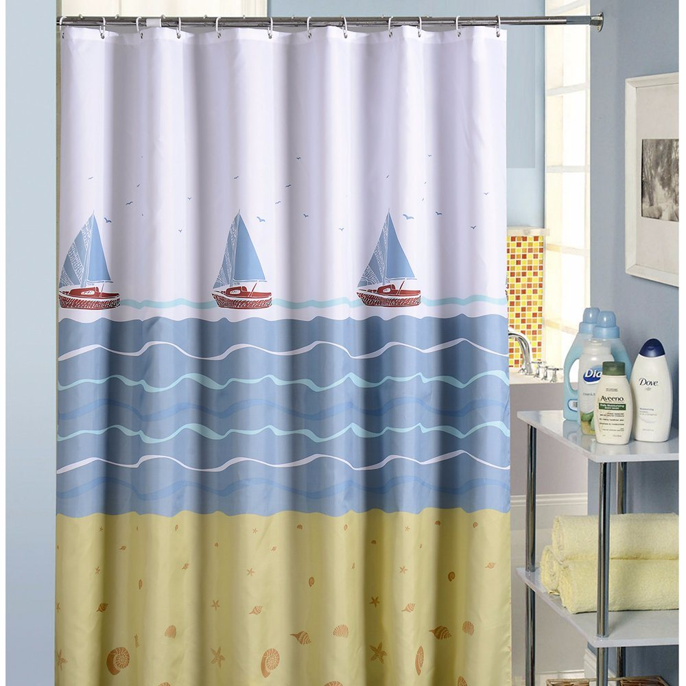 Bathroom Shower Curtain Hot Item Odorless Waterproof Polyester Bathroom Shower Curtain 17s0055