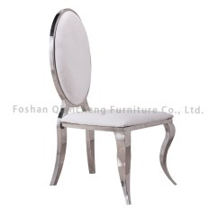 High Backed Throne Chair Ergonomic Manufacturers China White Leather Back For Hotel Wedding Dining Steel