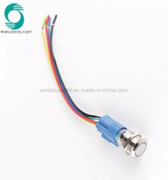 china xl19s f11 p1 12vb 19mm metal led momentary pushbutton push button switch with wire harness and 8 hole connector china wiring connector for 19mm  [ 1000 x 1000 Pixel ]