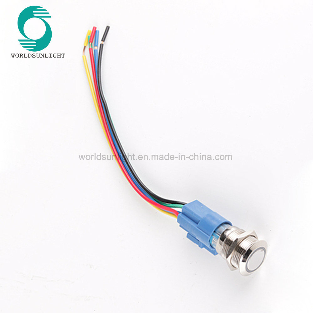 medium resolution of china xl19s f11 p1 12vb 19mm metal led momentary pushbutton push button switch with wire harness and 8 hole connector china wiring connector for 19mm