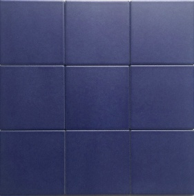china 4x4 matt blue glazed porcelain