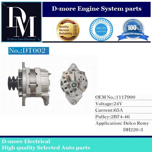 small resolution of excavator dh220 3 dh260 3 24volt 65a alternator me070120 a2t72986 1117900