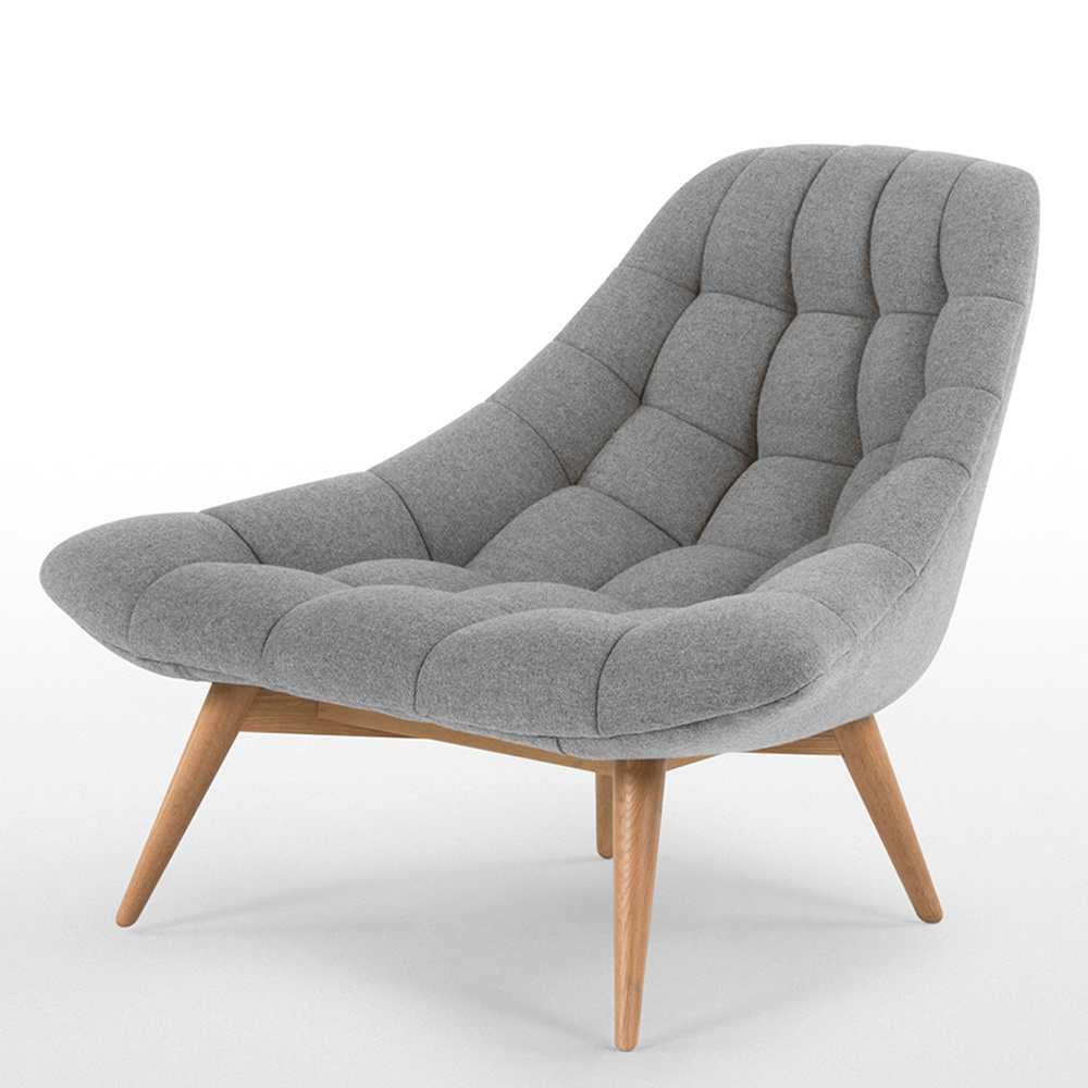 Scandinavian Chair Hot Item Ash Wood Grey Linen Meditation Chair Scandinavian Chair