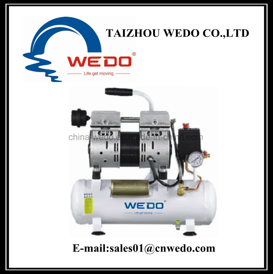 hight resolution of china wdw550 9 oilless air compressor with 9l tank china air compressor ce approved