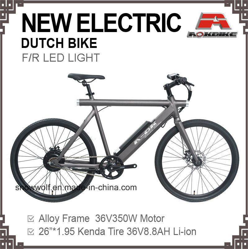 China 26 Inch Electric Mens Bicycle Holand Oma Dutch