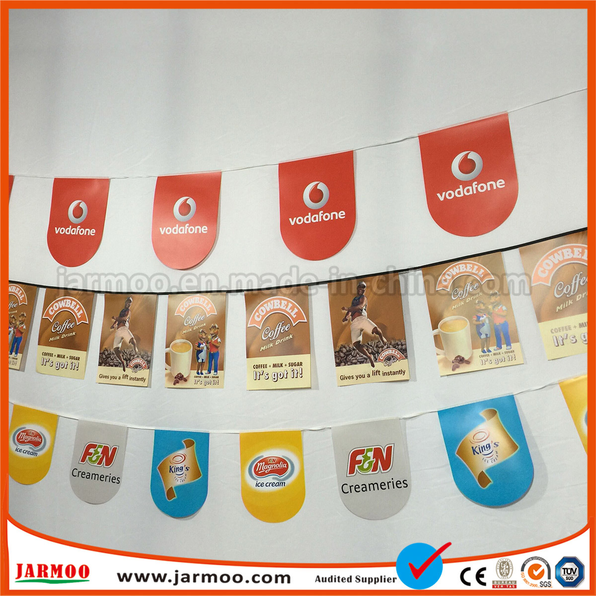 9b6a8f140fe China Cheap Printing Paper Flag Hanging For Decoration And