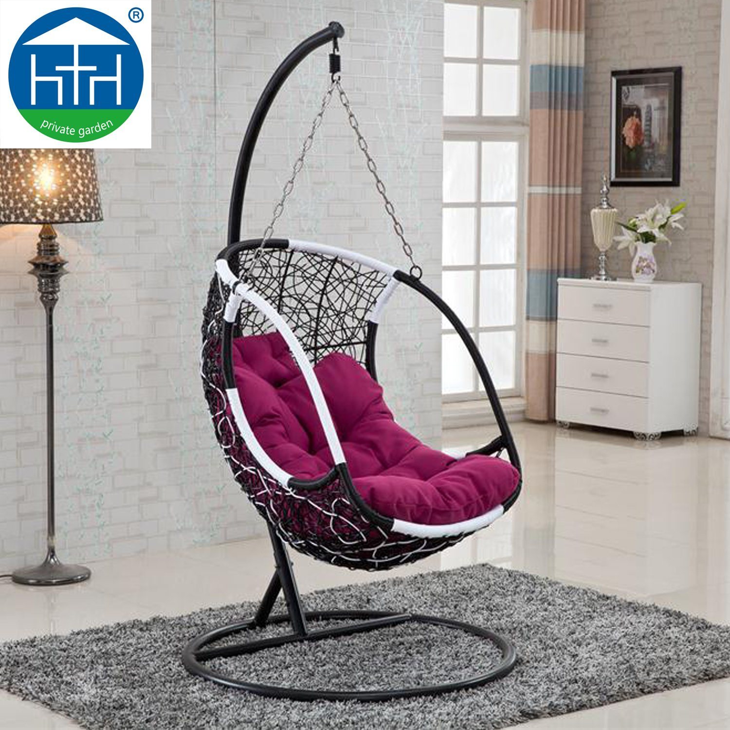 Swinging Chair Hot Item Cheap Outdoor Garden Furniture Swinging Chair With Cushion