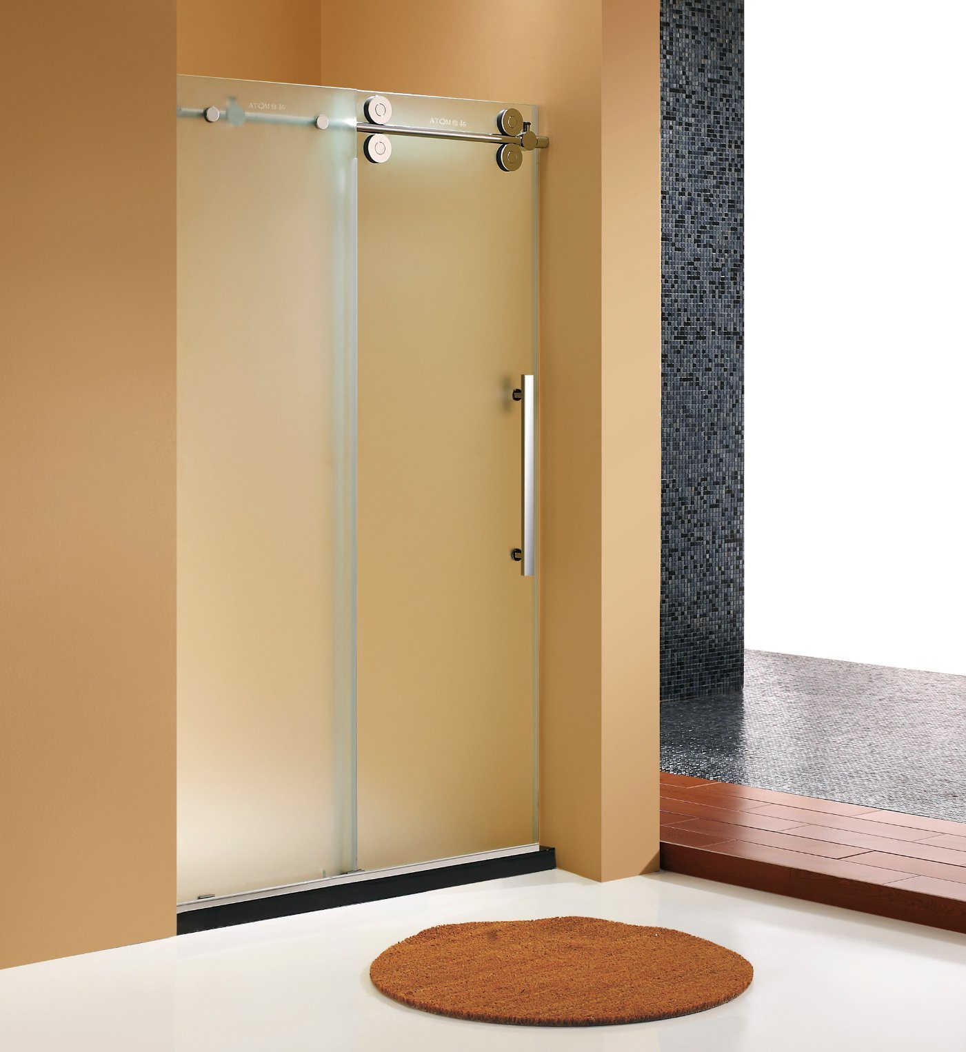 Hot Item Frameless Sliding Door For Shower Room Frosted Glass Shower Door