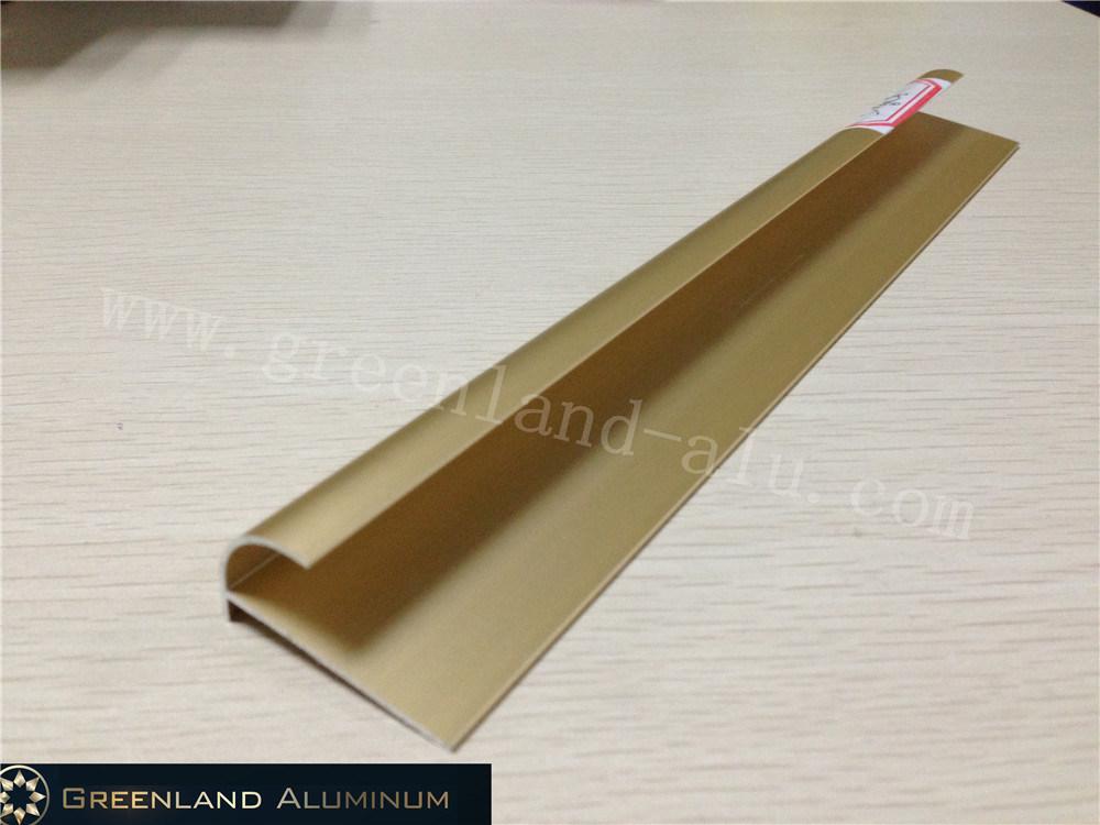 hot item aluminium radius tile trim in anodised champagne gold color