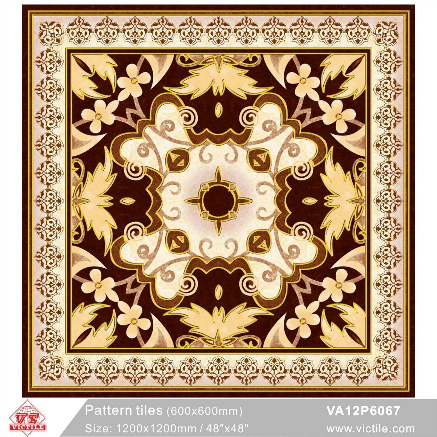china flower building material puzzle carpet floor tile va12p6067 1200x1200mm 48 x48 china tile floor tile