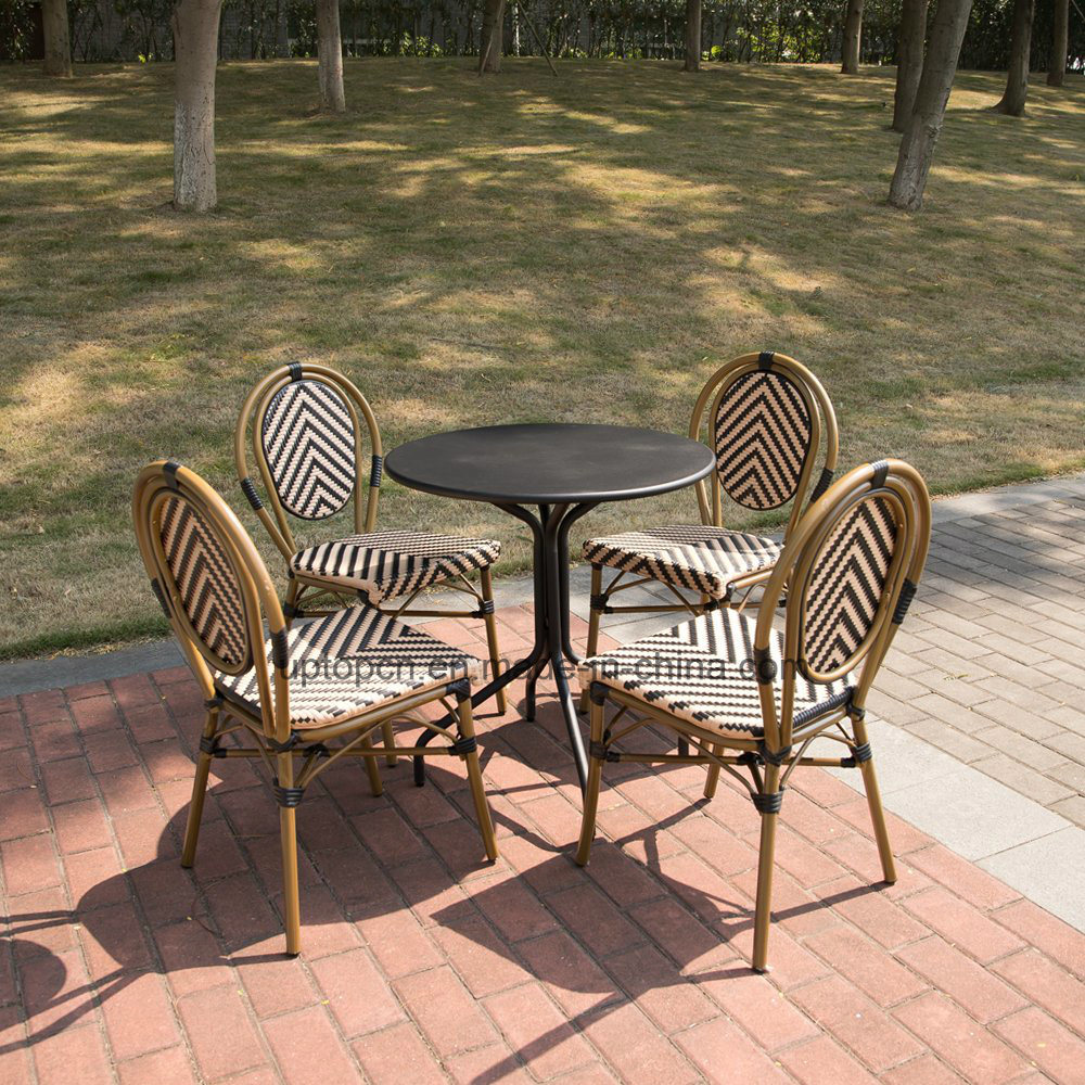 Outdoor French Bistro Chairs Hot Item Sp Oc520 Bamboo Restaurant Furniture Rattan Dining Chair French Bistro Chairs