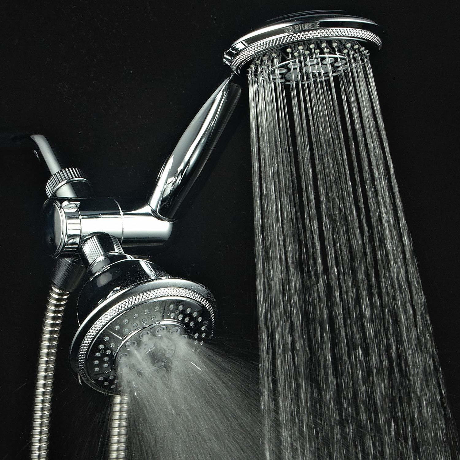 Hot Item 3 Way 8 Setting Rainfall Shower Head And Handheld Shower Combo Chrome Use Luxury 7 Inch Rain Showerhead Or 7 Function Hand Shower For