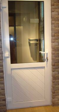 China PVC Door, Half Glass and Half Panel Door