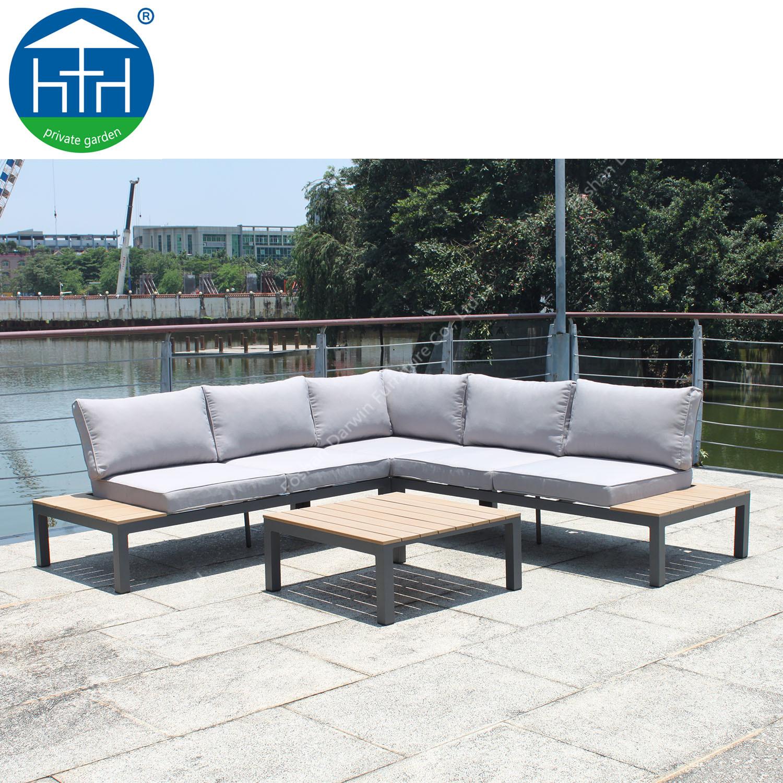 china modular l shape sofa patio use