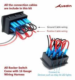 rocker switch led light bar 12v toggle switch 4 x 4 [ 1281 x 1281 Pixel ]