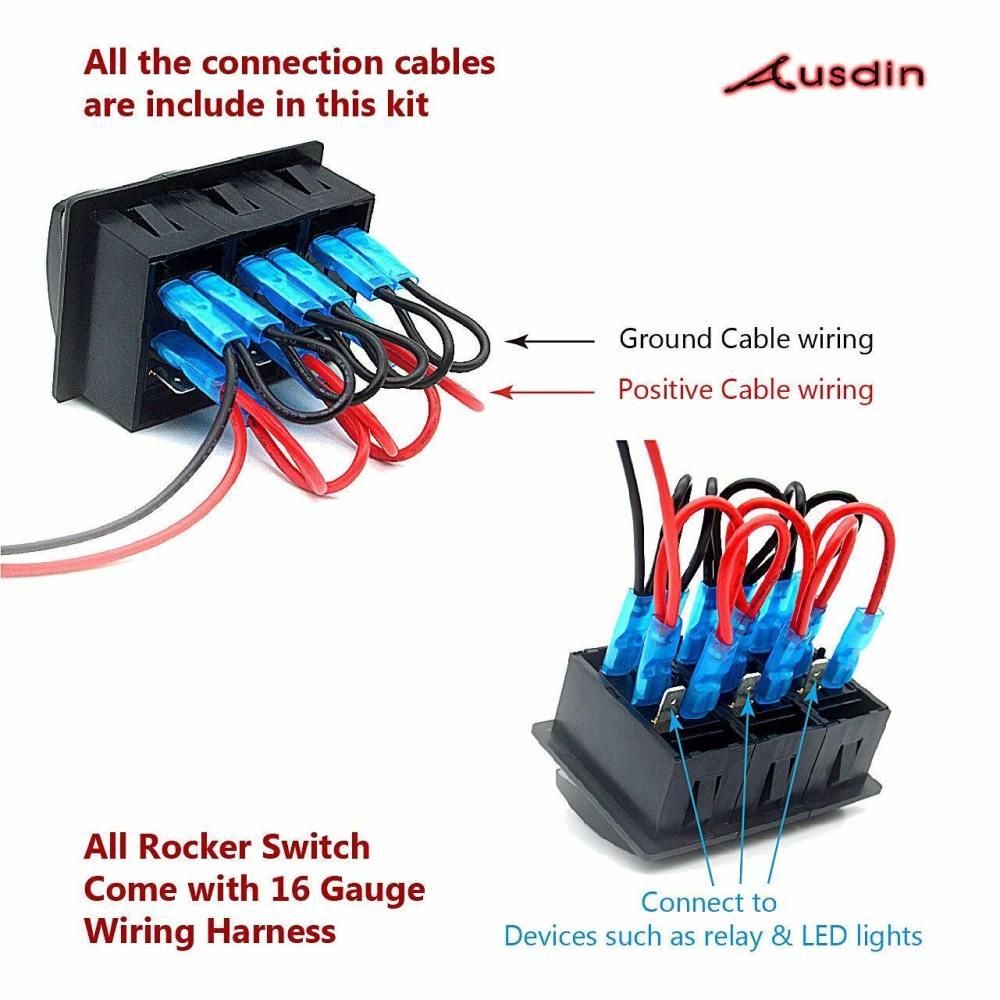 medium resolution of rocker switch led light bar 12v toggle switch 4 x 4