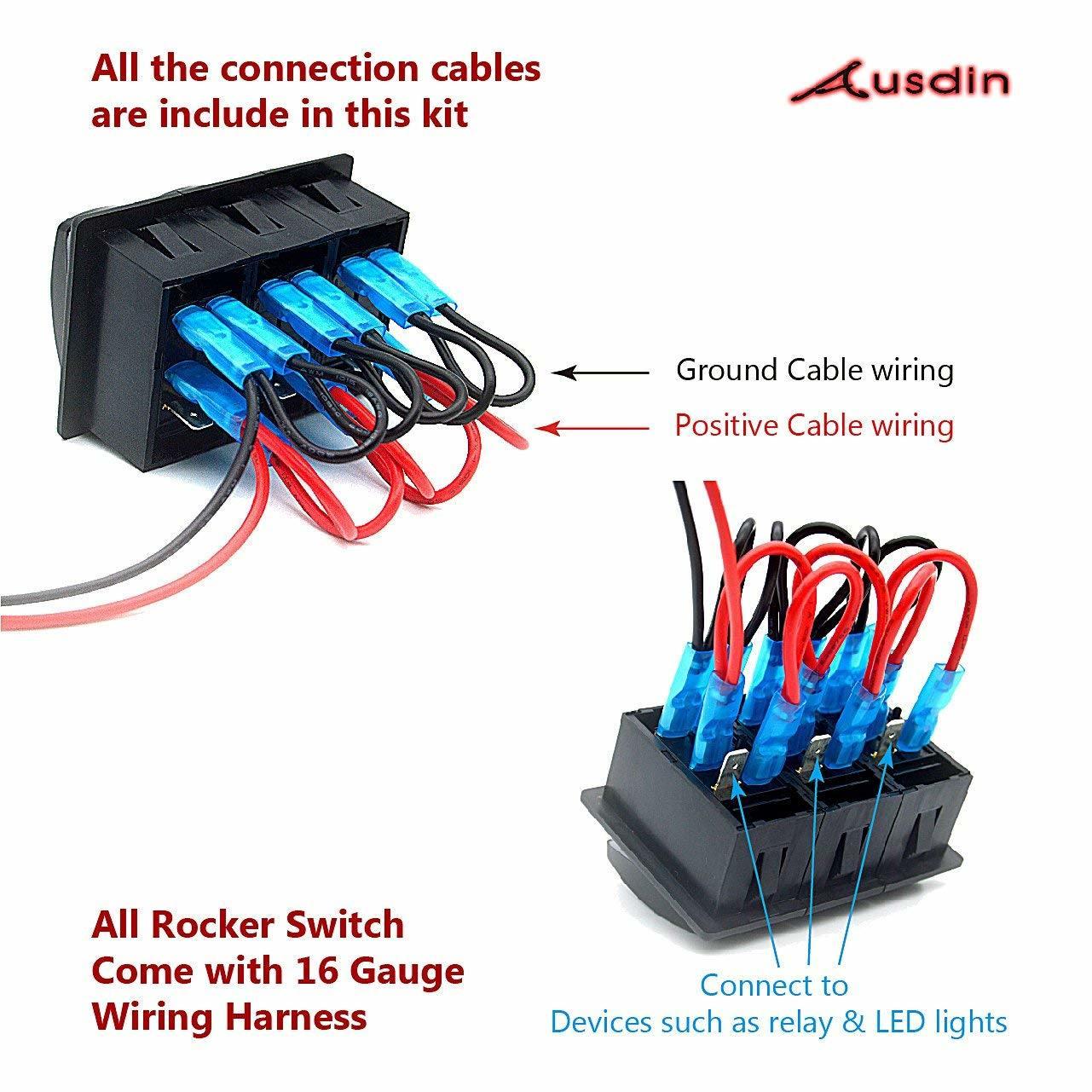 hight resolution of rocker switch led light bar 12v toggle switch 4 x 4