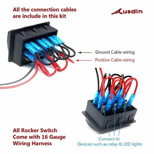 small resolution of rocker switch led light bar 12v toggle switch 4 x 4