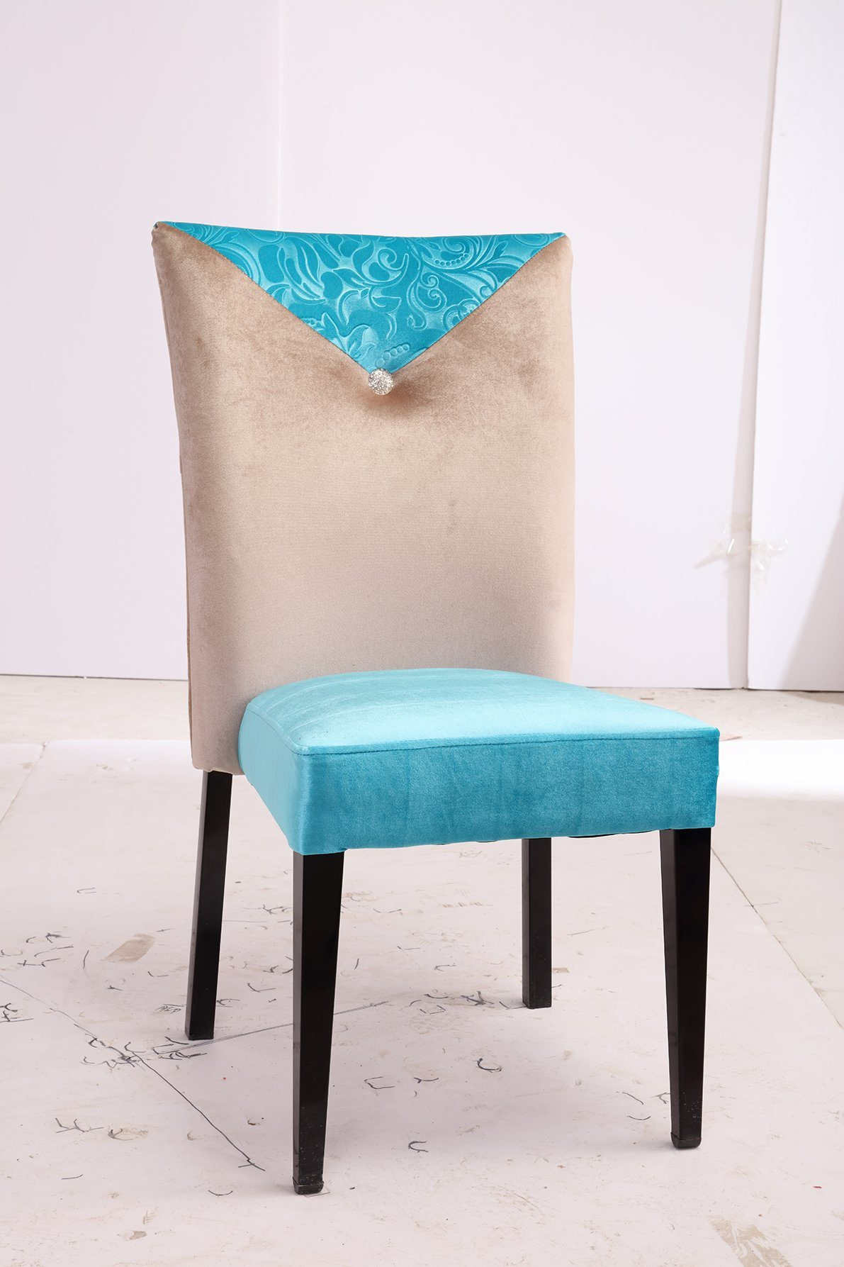 Tiffany Blue Chair Hot Item Modern High Back And Tiffany Blue Lint Fabric Covered Dining Chair For Hotel Restaurant