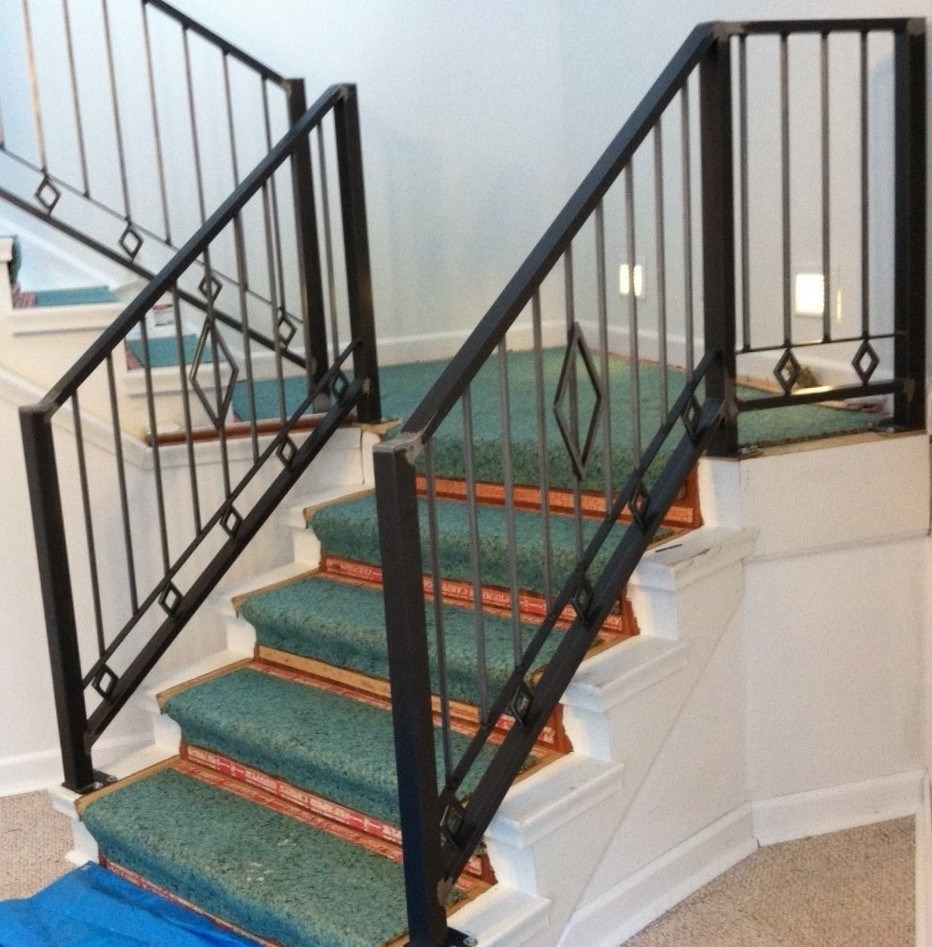 China Cheapest Outdoor Wrought Iron Stair Railings For Sale | Wrought Iron Steps Outdoor | Wood Interior | Current | Iron Handrail | Staircase | Backyard