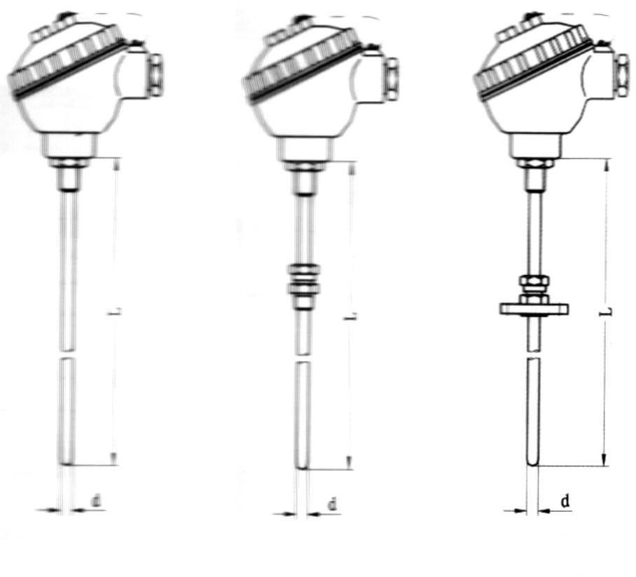 China Assembly Type Thermo-Element / Thermocouple / Sensor