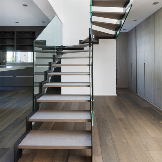 China Modern Straight Stairs Steel Stairs Wrought Iron Staircase | Modern Steel Staircase Design | Small House | Beautiful | Handrail | Solid Steel | Gallery