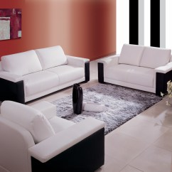 Black And White Leather Sofa Best Washable Slipcover China Color Es8029