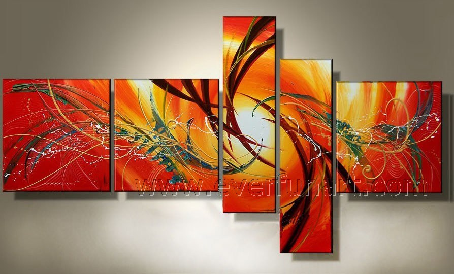 China Handmade Stretched Canvas Wall Art Abstract Oil