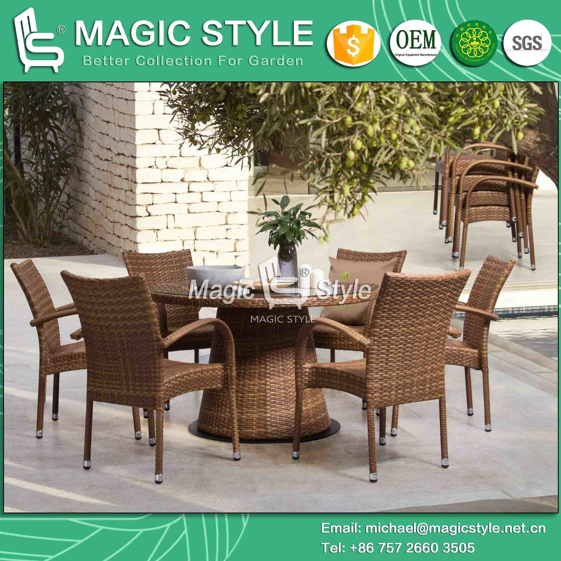 Outdoor Wicker Dining Chairs Hot Item Outdoor Wicker Dining Chair With Table Patio Rattan Dining Chair Garden Stackable Chair Jada Dining Set Furniture