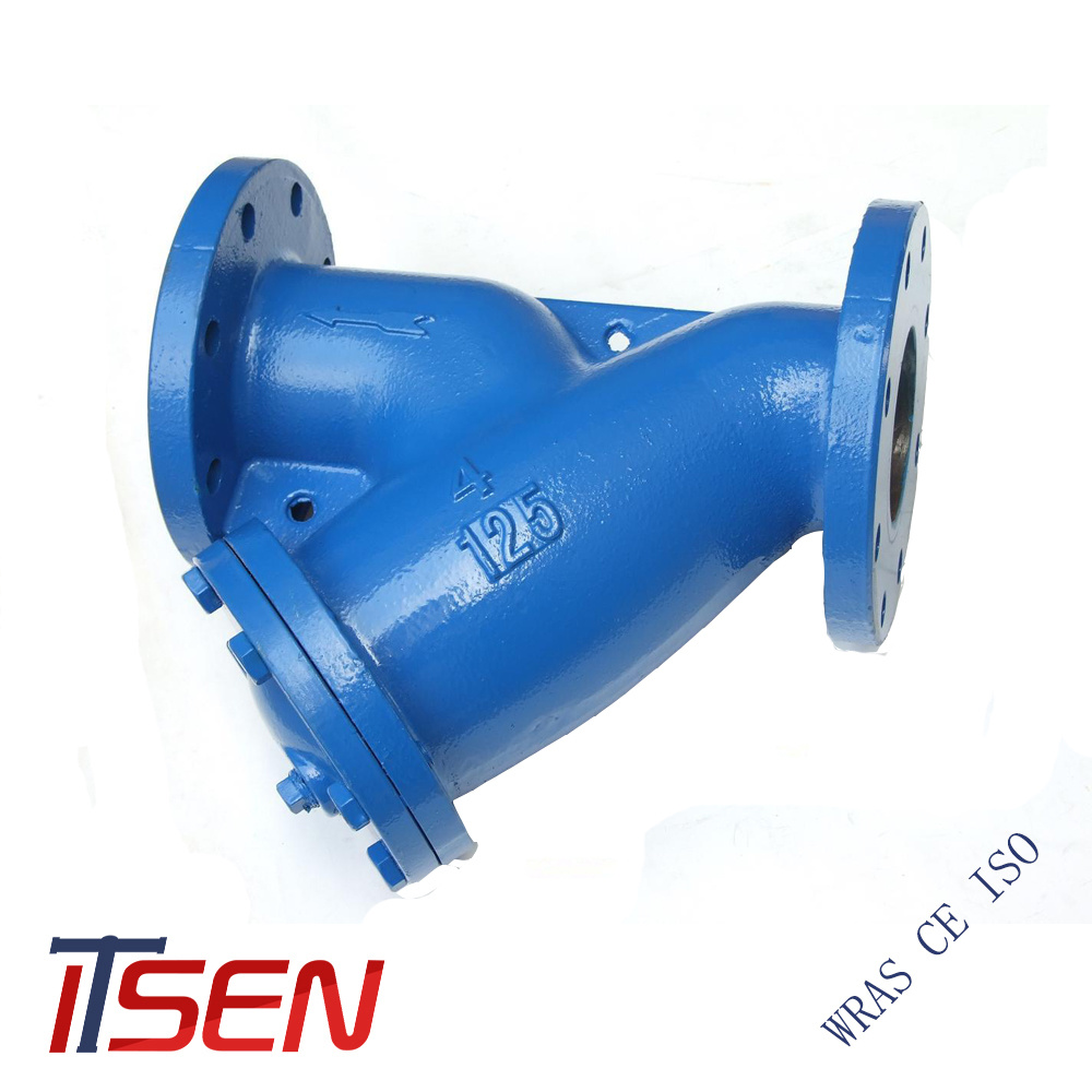 hight resolution of dn 50 dn100 water treatment y type flange strainer