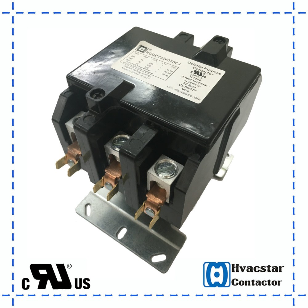 medium resolution of china cooling system magnetic contactor hcdpy324075 air conditioner parts china ac contactor three phase contactor