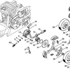 Stihl Ms 441 Parts Diagram Kenmore Dryer Heating Element Wiring China Chain Saw Oil Pump And Clutch System (ms380, Ms381) - Saw,