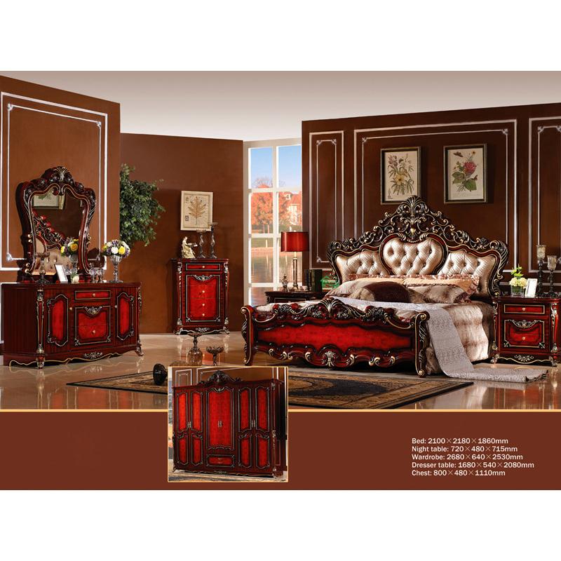 Het klassieke Meubilair van de Slaapkamer met het Bed van